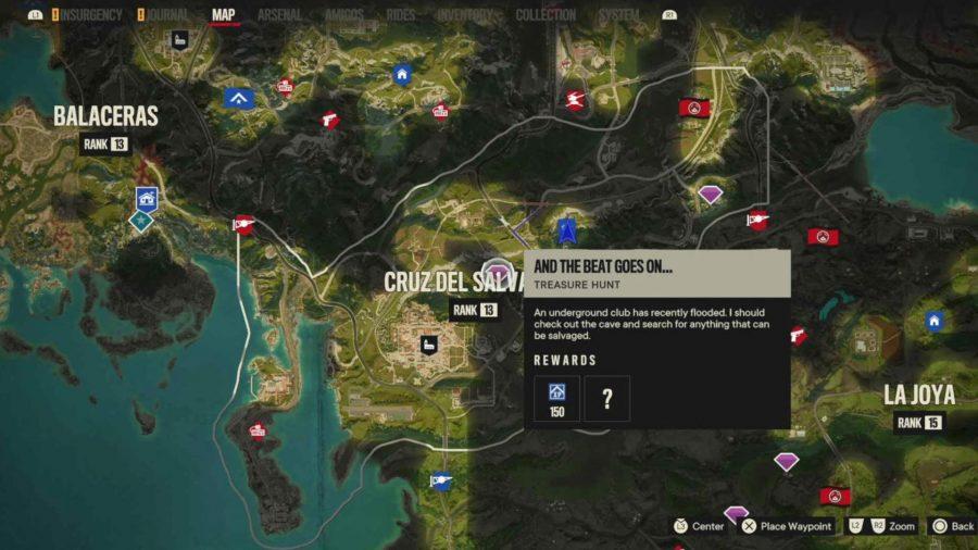 Расположение USB-накопителя в Far Cry 6: карта, на которой показано расположение USB-накопителя.