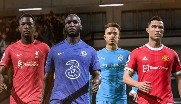 FIFA 22 otw pack: four players walk towards the pitch