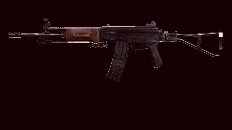 Grav Warzone loadout: a Grav assault rifle set against a black background