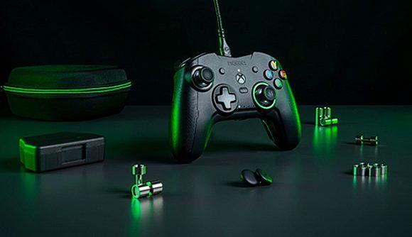 A black Nacon Revolution X Xbox controller